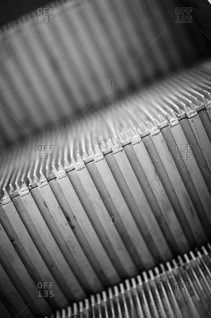 Close-up of an escalator, Sweden