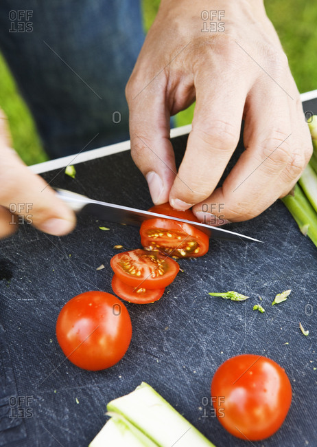 Sliced small tomatoes, Sweden
