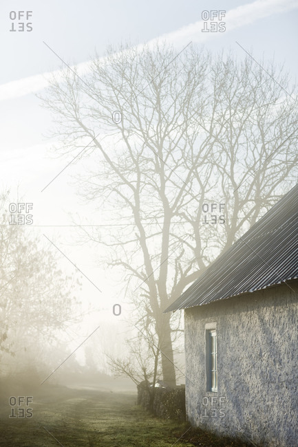 A house in a hazy landscape, Sweden