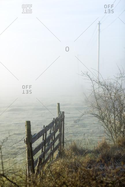 A gate in a hazy landscape, Sweden