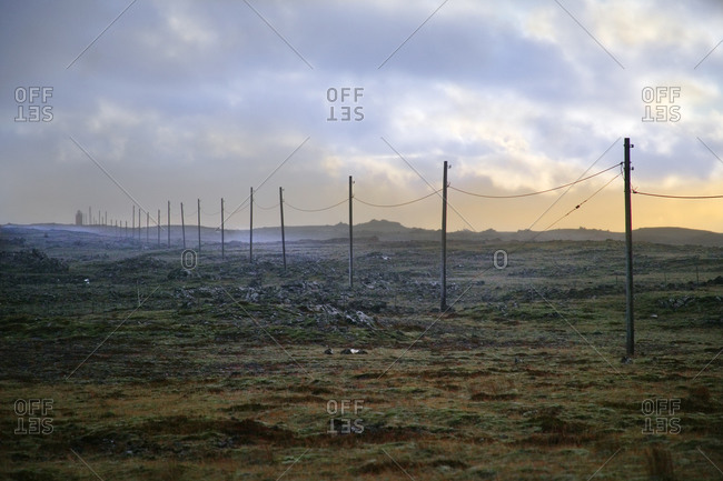 Telephone line, Iceland - Offset Collection