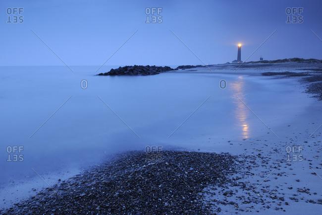 Empty beach by the sea, Denmark