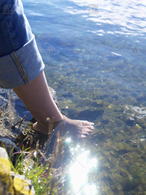 Bare feet on the beach, Sweden