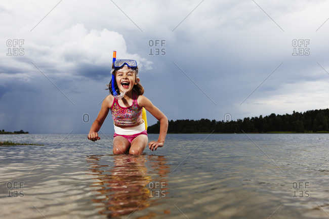 A girl in the water, Sweden