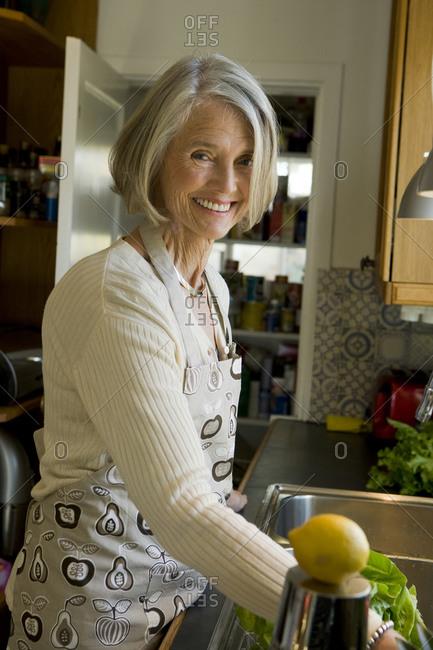 Senior woman in a kitchen