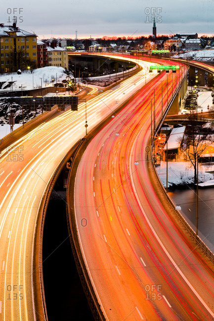 Traffic in winter - Offset Collection