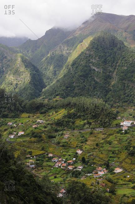 Buildings in valley
