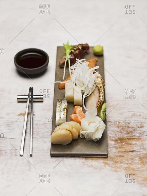 Close-up of Sashimi