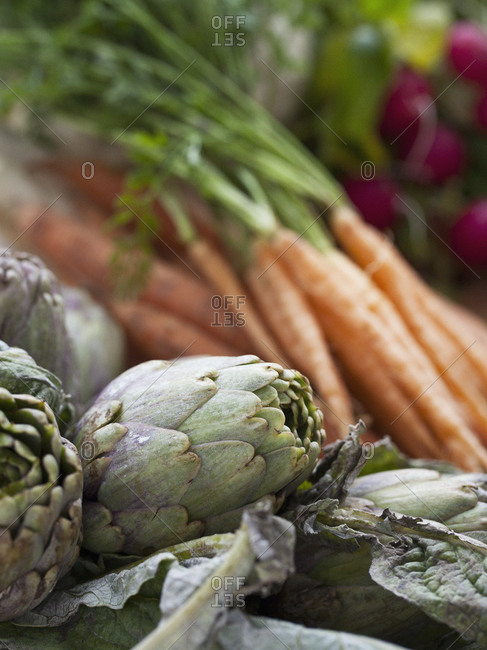 Artichokes and carrots