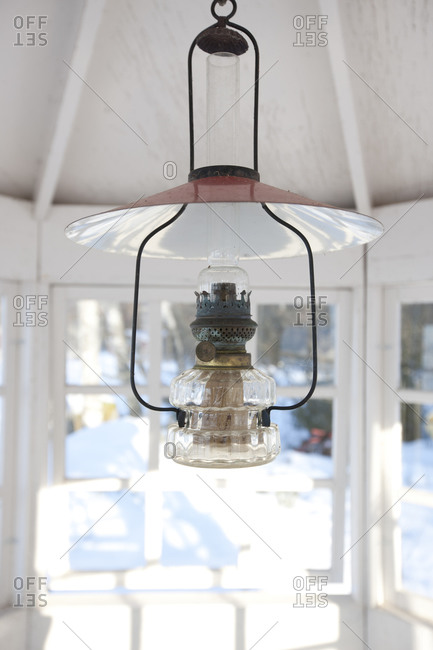 Close-up of paraffin lamp