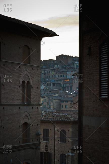 Dusk in Italian city