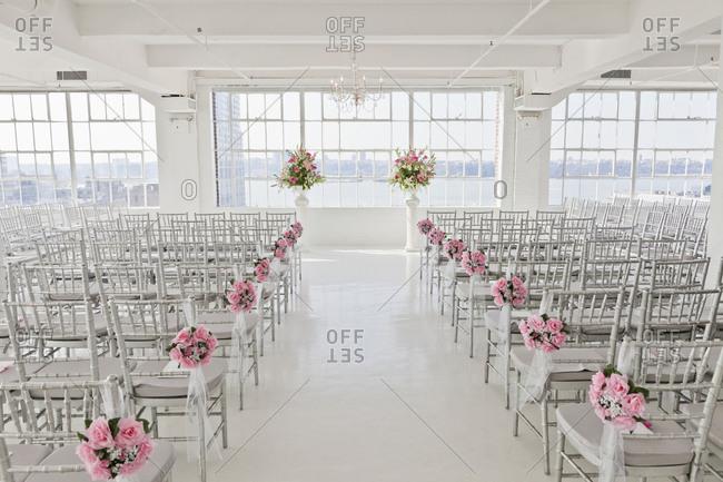 Indoor wedding altar