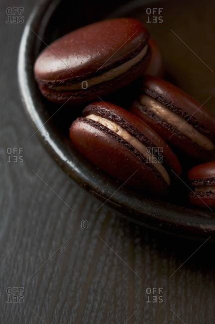 Bowl of Brown Macaroons
