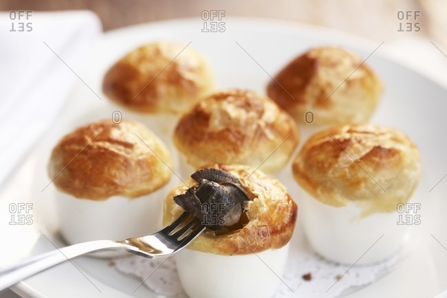 Baked Escargot in Puff Pastry