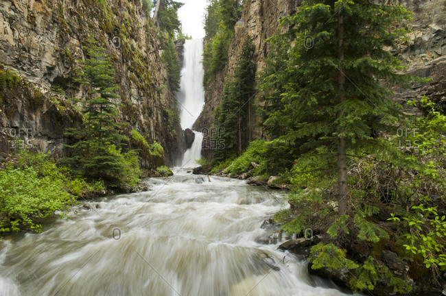 Ames Falls, Lake Fork Creek, Uncompahgre National Forest, Ames, Colorado(blurred motion).