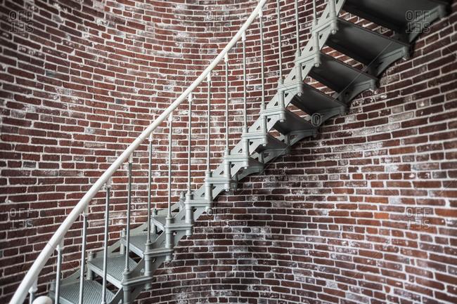 Circular staircase in umpqua lighthouse
