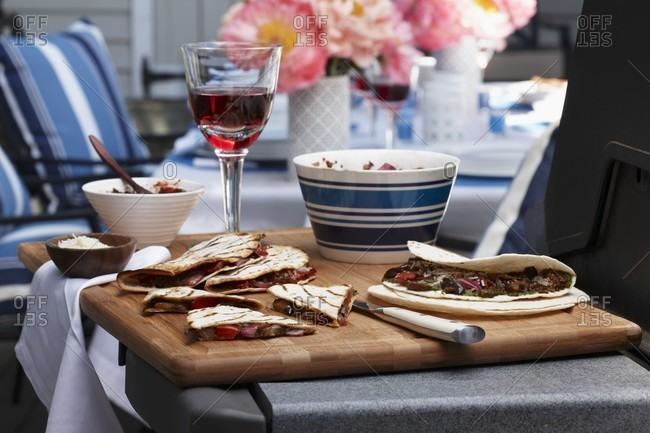 Grilled quesadillas from Italy