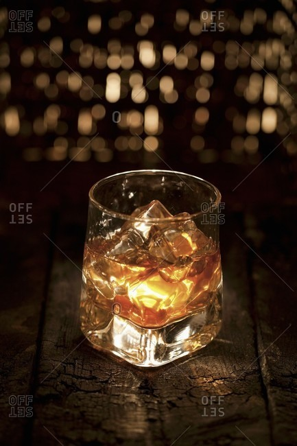 Glass of Scotch on Ice