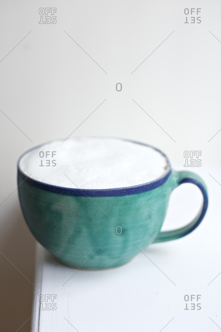 Cup with foamed milk