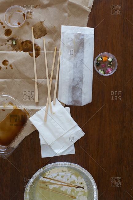 Various thai food take out