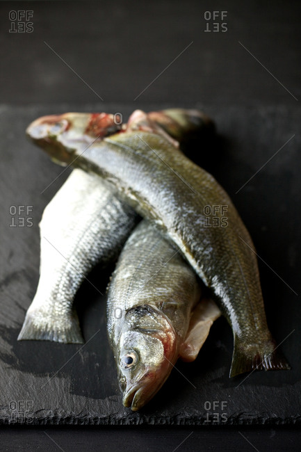 Fresh peeled fish prepared for cooking