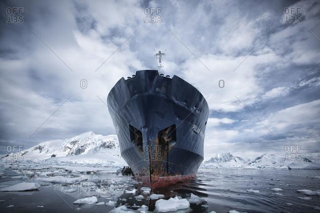 Polar Pioneer ship in Paradise harbor