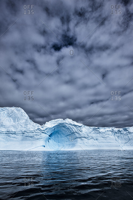 Cavernous formation in the ice sheet of Antarctica