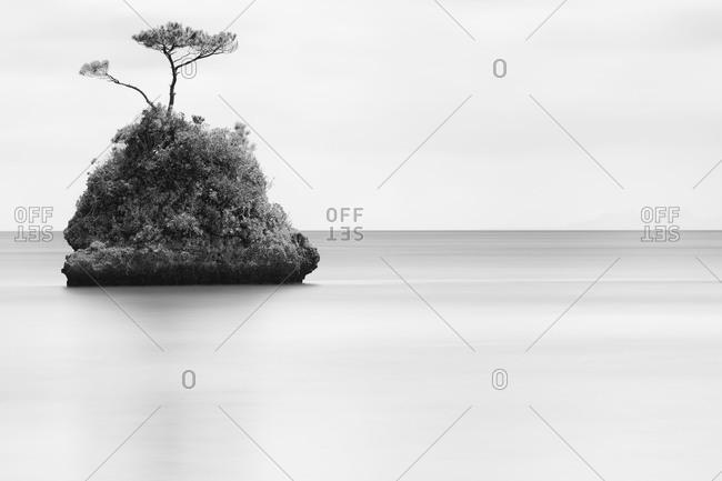 One tiny island in the ocean near Japan