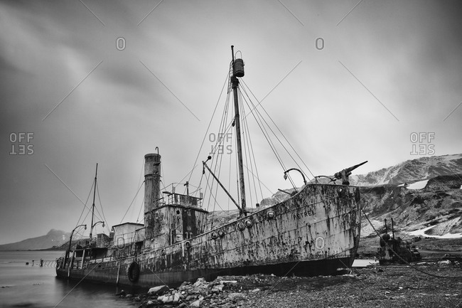 Abandoned ship in South Georgia