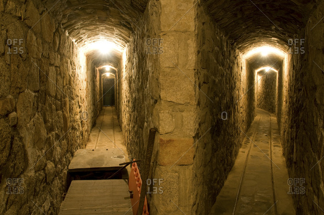 The famous underground tunnels at the Thunderbird Lodge on the east shore of Lake Tahoe, NV.