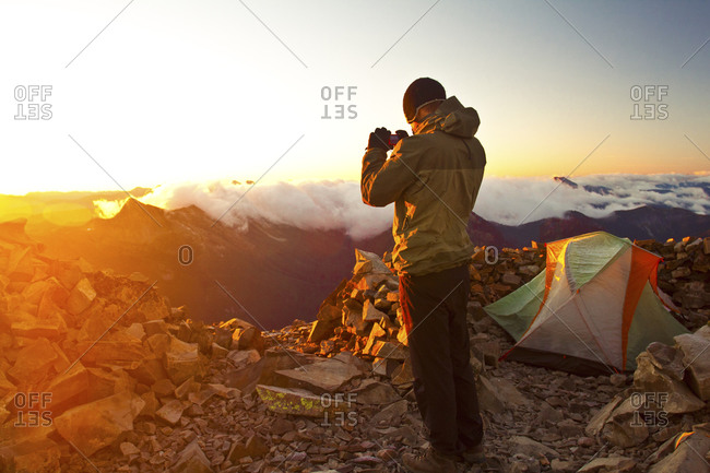 Hiking Frosty Peak. - Offset Collection