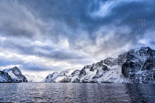Landscape scene of Drygalski Fjord, South Georgia