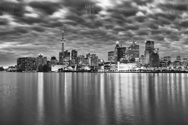 View of the city skyline of Toronto, Canada