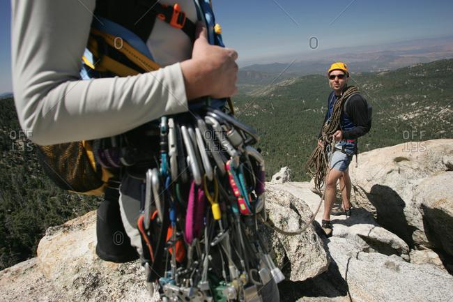 Rock climbing in southern California