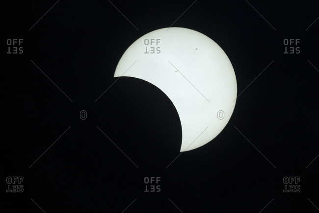 Annular eclipse of the sun on May 21, 2012