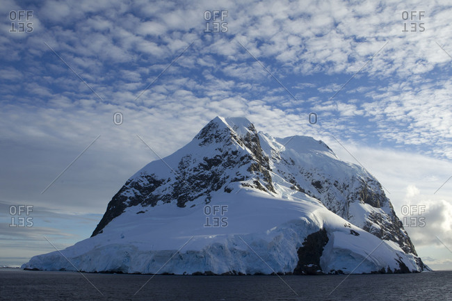Booth island in Antarctica on sunny day