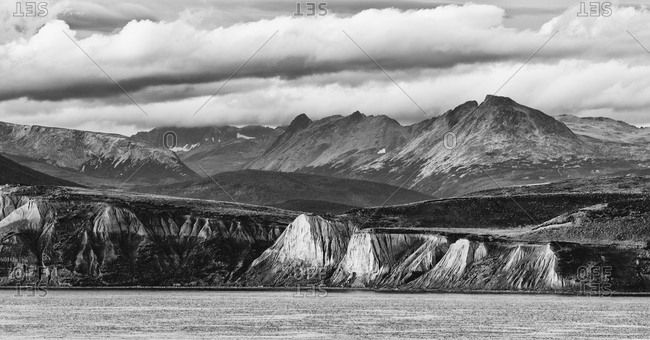 Cliffs along the Beagle channel, Antarctica