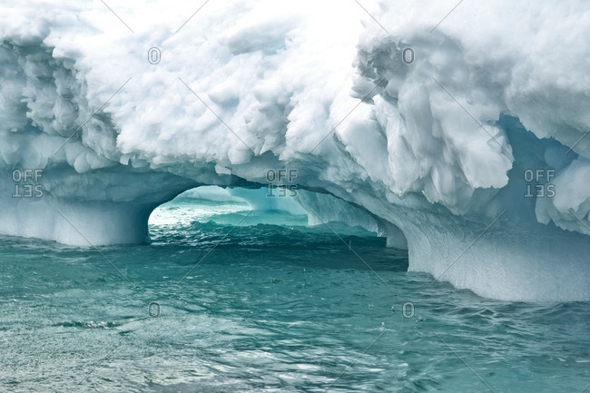 Ice arch in Antarctica