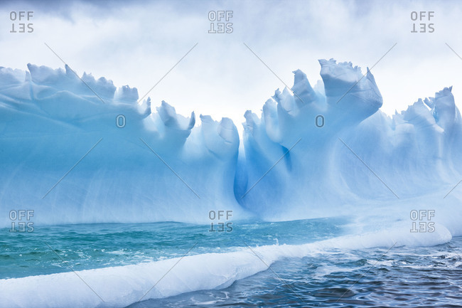 Ice palace in Antarctica
