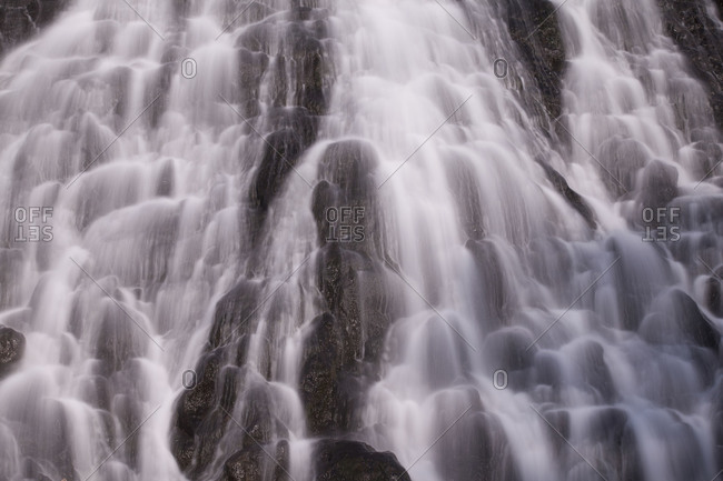 Oshin Koshin Falls Shiretoko National Park, island of Hokkaido, Japan.