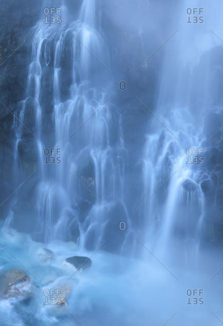 Shirohige Falls in Daisetsuzan National Park, island of Hokkaido, Japan.