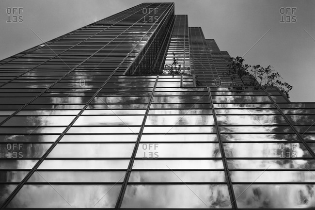 Clouds in Trump Tower in New York, USA