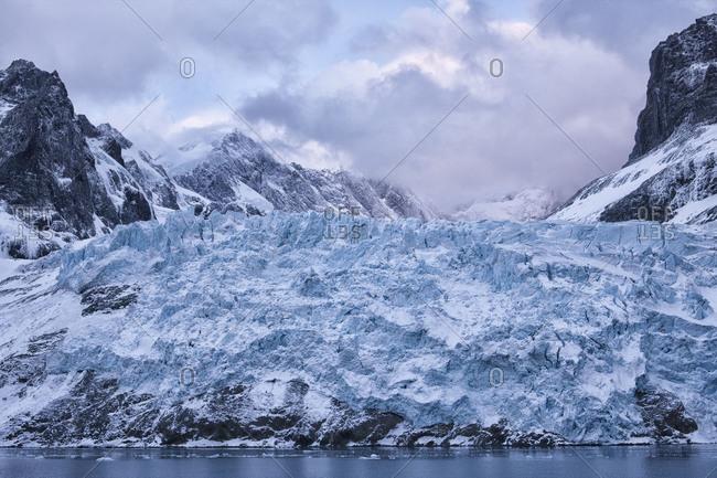 Glacier of Drygalski Fjord at South Georgia Island