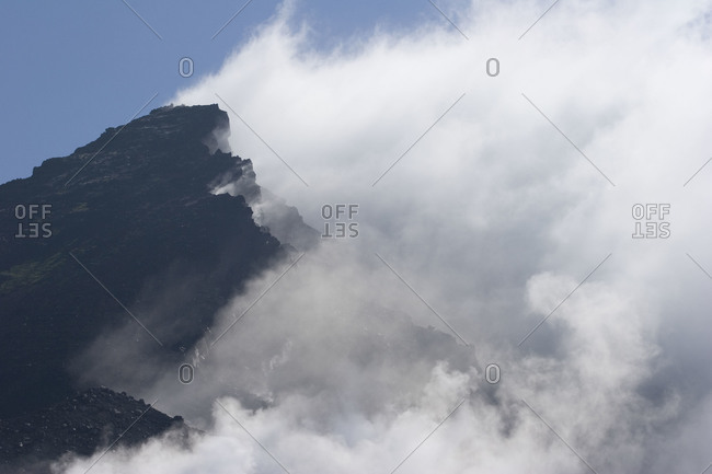 Cloudy peak of Mount Asahi