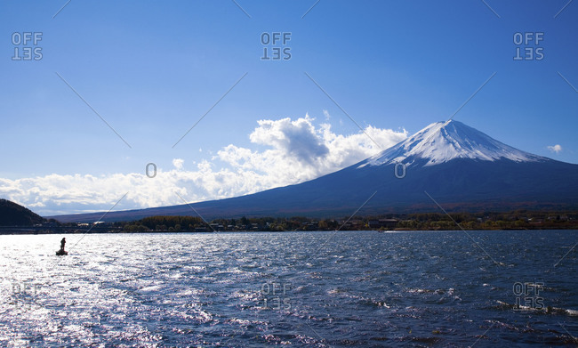 Mount Fuji view from Kawaguchi Lake