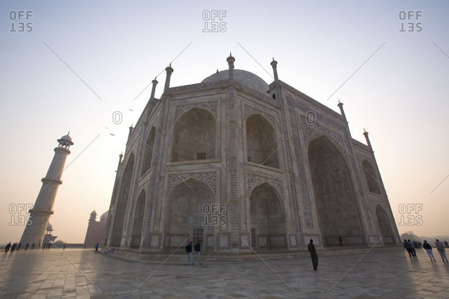 White marble building of Taj Mahal in Agra, Uttar Pradesh, India