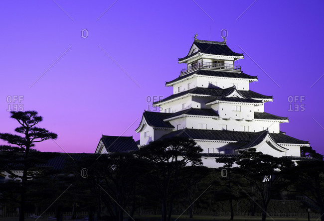 Tsuruga Castle, base of the Byakkotai Warriors, in Aiz-Wakamatsu, Fukushima Prefecutre, Japan