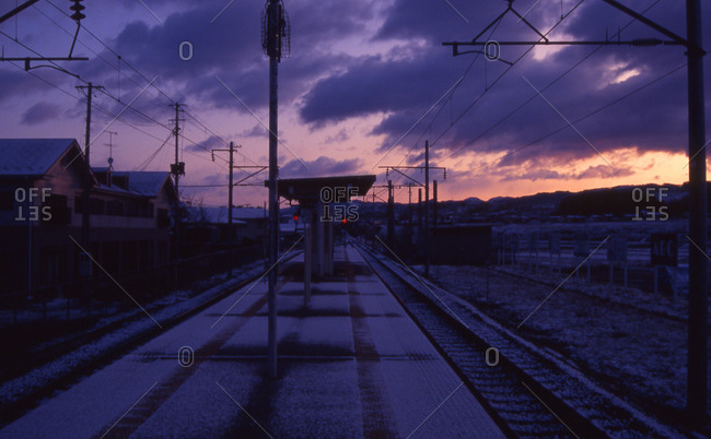 Yanagawa railway station in Yamanashi, Japan