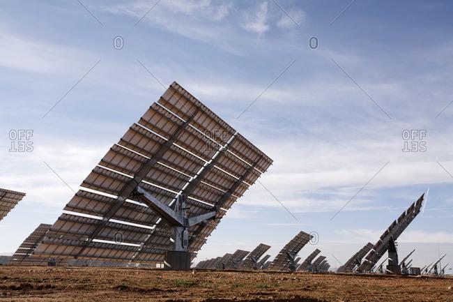 Solar Panels, Monegros Desert, Aragon, Spain