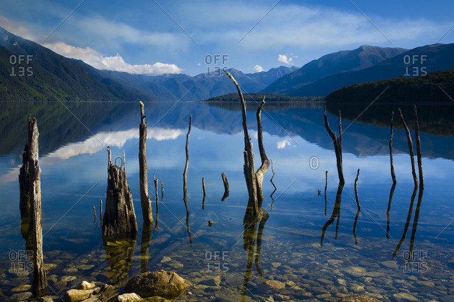 Lake Monowai, Fiordland National Park, Southland, South Island, New Zealand
